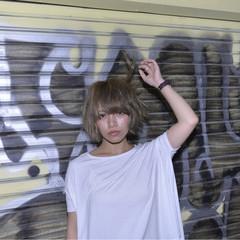 抜け感 ストリート ボブ ラフ ヘアスタイルや髪型の写真・画像