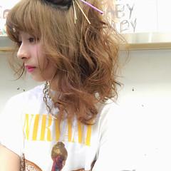 ヘアアレンジ ショート 夏 グラデーションカラー ヘアスタイルや髪型の写真・画像