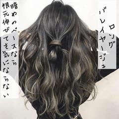 ロング ストリート バレイヤージュ 外国人風カラー ヘアスタイルや髪型の写真・画像
