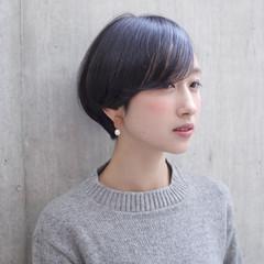 透明感 ショートボブ ショート ナチュラル ヘアスタイルや髪型の写真・画像