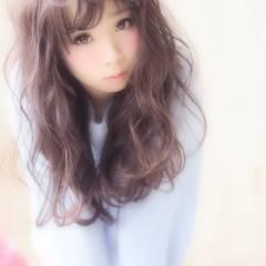 前髪パッツン 夏 ロング モテ髪 ヘアスタイルや髪型の写真・画像