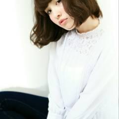 モテ髪 暗髪 フェミニン ショート ヘアスタイルや髪型の写真・画像