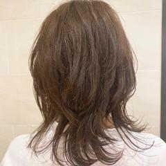 大人かわいい ナチュラル マッシュウルフ ウルフカット ヘアスタイルや髪型の写真・画像