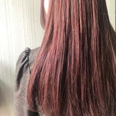 ピンク 大人かわいい ロング ラベンダーピンク ヘアスタイルや髪型の写真・画像