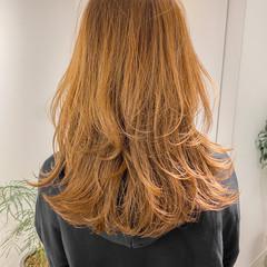 レイヤースタイル ミディアムレイヤー ナチュラル ウルフカット ヘアスタイルや髪型の写真・画像