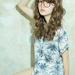 外国人風 アッシュ 外国人風カラー ゆるふわ ヘアスタイルや髪型の写真・画像