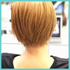 ショート 透明感 ダブルカラー 黒髪 ヘアスタイルや髪型の写真・画像