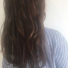 ラベンダーアッシュ ワンカール ロング 透明感 ヘアスタイルや髪型の写真・画像