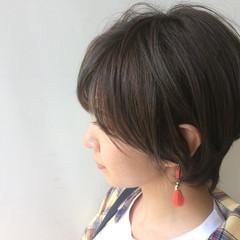 色気 ナチュラル ショート オフィス ヘアスタイルや髪型の写真・画像
