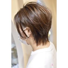 ハンサムショート ショート ウルフレイヤー ショートヘア ヘアスタイルや髪型の写真・画像