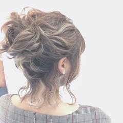 ボブ グラデーションカラー 結婚式 ハイライト ヘアスタイルや髪型の写真・画像