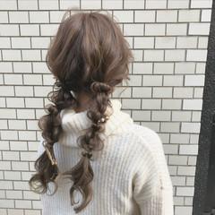 ヘアアレンジ ロング デート ツインテール ヘアスタイルや髪型の写真・画像