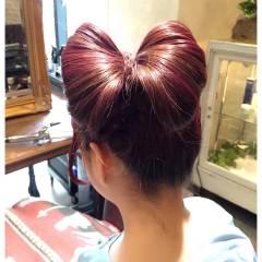 ヘアアレンジ ストリート ガーリー セミロング ヘアスタイルや髪型の写真・画像