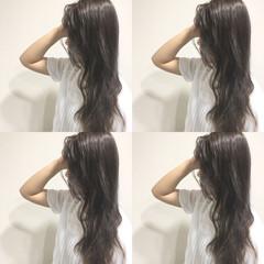 波ウェーブ 外国人風 ロング 暗髪 ヘアスタイルや髪型の写真・画像