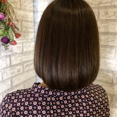 ツヤ髪 艶髪 ナチュラル ボブ ヘアスタイルや髪型の写真・画像