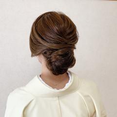 和装ヘア エレガント ミディアム 着物 ヘアスタイルや髪型の写真・画像