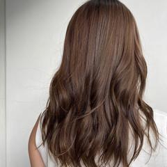 フェミニン ゆるふわ 外国人風カラー セミロング ヘアスタイルや髪型の写真・画像