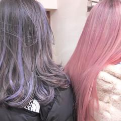 ハイトーンカラー ロング インナーカラー ハイライト ヘアスタイルや髪型の写真・画像