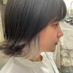 ナチュラル ミディアム ホワイトブリーチ ブリーチ ヘアスタイルや髪型の写真・画像