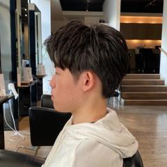 ショート マッシュ メンズパーマ 絶壁カバー ヘアスタイルや髪型の写真・画像
