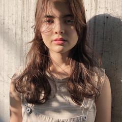 外国人風カラー 透明感カラー ナチュラル ミルクティーベージュ ヘアスタイルや髪型の写真・画像