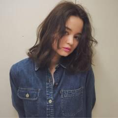 コンサバ 春 ミディアム モテ髪 ヘアスタイルや髪型の写真・画像