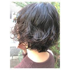 簡単 ストリート デジタルパーマ ワンレングス ヘアスタイルや髪型の写真・画像
