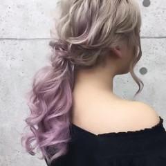 卒業式 ローポニーテール ロング エレガント ヘアスタイルや髪型の写真・画像