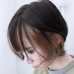 ネオウルフ インナーカラー デート モード ヘアスタイルや髪型の写真・画像