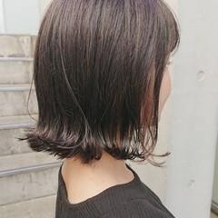 切りっぱなしボブ ハイライト ボブ ミニボブ ヘアスタイルや髪型の写真・画像