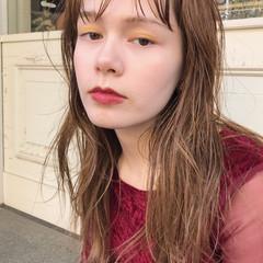 ハイライト 前髪あり 大人かわいい パーマ ヘアスタイルや髪型の写真・画像