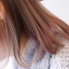 外国人風 冬 ガーリー ラベンダー ヘアスタイルや髪型の写真・画像