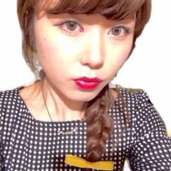 三つ編み コンサバ フェミニン 丸顔 ヘアスタイルや髪型の写真・画像
