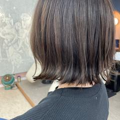 外ハネボブ ボブ ミニボブ 切りっぱなしボブ ヘアスタイルや髪型の写真・画像
