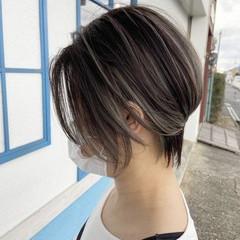 コントラストハイライト 3Dハイライト ベリーショート ショートヘア ヘアスタイルや髪型の写真・画像