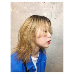 ストリート マッシュ ウルフカット グラデーションカラー ヘアスタイルや髪型の写真・画像