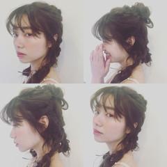 フェミニン ゆるふわ ヘアアレンジ ロング ヘアスタイルや髪型の写真・画像