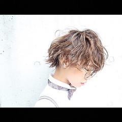 モード ハイライト アッシュ グラデーションカラー ヘアスタイルや髪型の写真・画像