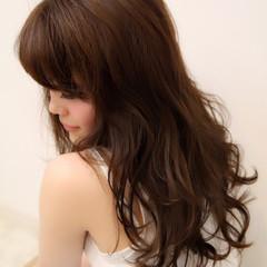 ヘアアレンジ パーマ フェミニン ロング ヘアスタイルや髪型の写真・画像