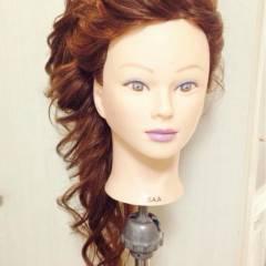 ブライダル 外国人風 結婚式 花嫁 ヘアスタイルや髪型の写真・画像