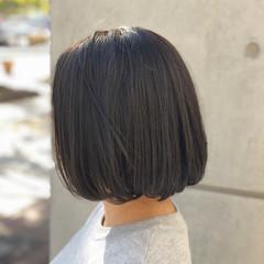 暗髪 ハイライト ボブ 大人かわいい ヘアスタイルや髪型の写真・画像