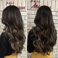 グラデーションカラー グレー 外国人風 ストリート ヘアスタイルや髪型の写真・画像