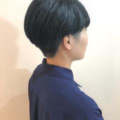 モード ショート 外国人風 ブルー ヘアスタイルや髪型の写真・画像