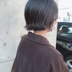 ミニボブ 切りっぱなしボブ ショートヘア 黒髪 ヘアスタイルや髪型の写真・画像