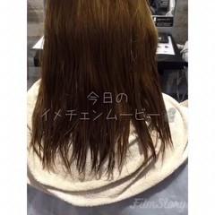 外国人風 セミロング ハイライト アンニュイ ヘアスタイルや髪型の写真・画像