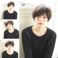 小顔 ガーリー キュート アッシュグレージュ ヘアスタイルや髪型の写真・画像