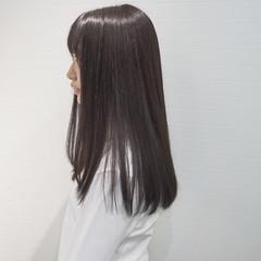 パーマ ストレート 縮毛矯正 ロング ヘアスタイルや髪型の写真・画像