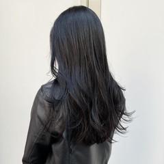 ナチュラル 透明感カラー サロモ 暗髪 ヘアスタイルや髪型の写真・画像