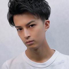 メンズショート ツーブロック 黒髪ショート メンズカット ヘアスタイルや髪型の写真・画像