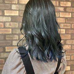 インナーカラー 透明感 ナチュラル イルミナカラー ヘアスタイルや髪型の写真・画像